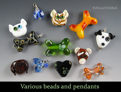 Flameworked Glass Beads (Lampwork) by me