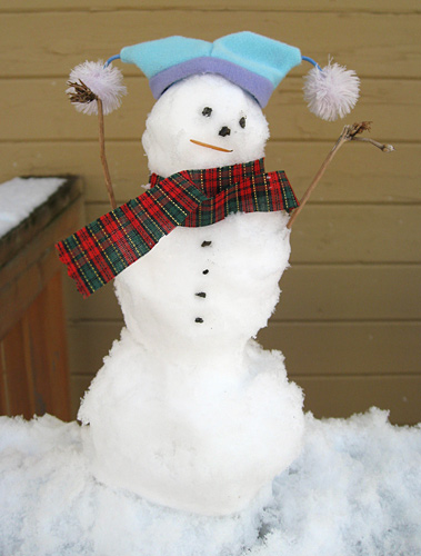 Mini Snowman - ready for winter